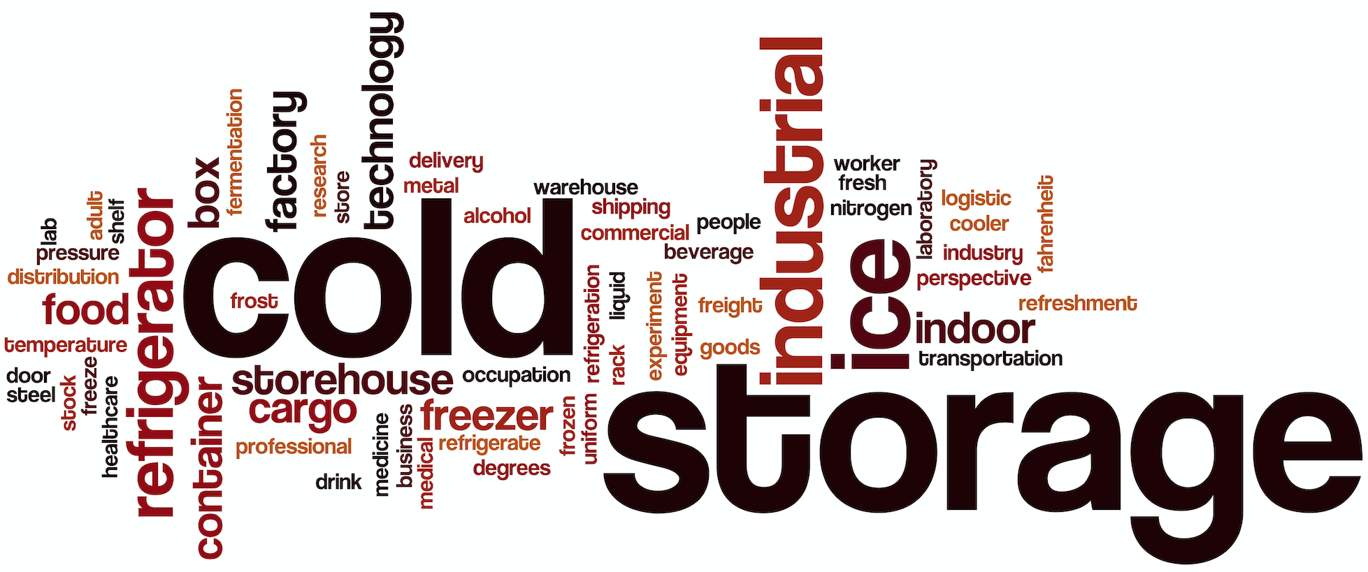 Cold Storage Word Cloud Infographic
