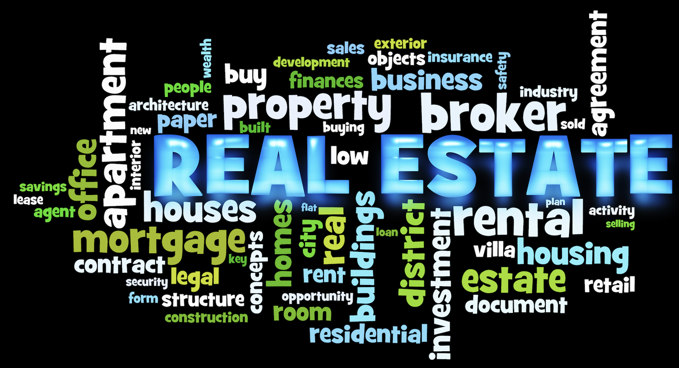 Real Estate Word Cloud Infographic Image